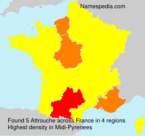 Surname Attrouche in France