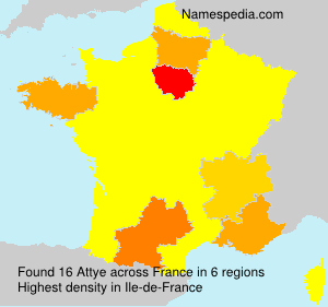 Surname Attye in France