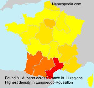 Familiennamen Aubaret - France