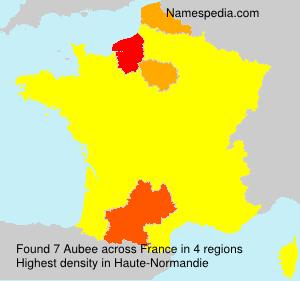 Familiennamen Aubee - France
