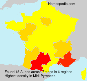 Surname Aubes in France