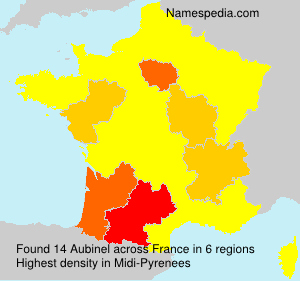 Surname Aubinel in France
