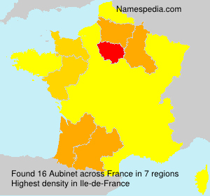 Surname Aubinet in France