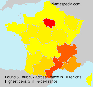 Surname Aubouy in France