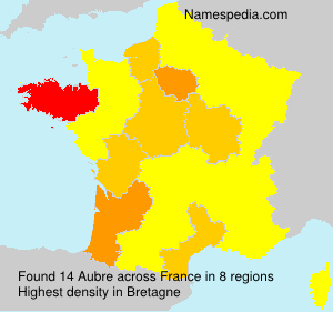 Surname Aubre in France