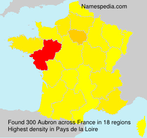 Surname Aubron in France