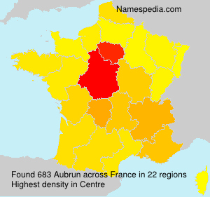 Surname Aubrun in France