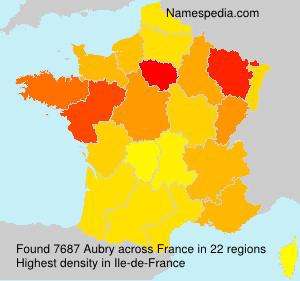 Familiennamen Aubry - France