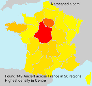 Surname Auclert in France