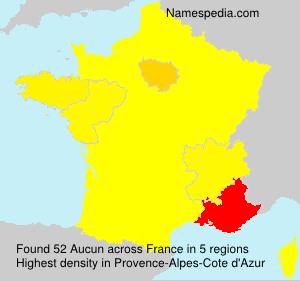Familiennamen Aucun - France