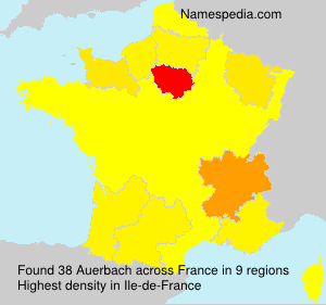 Surname Auerbach in France