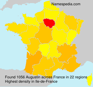 Surname Augustin in France