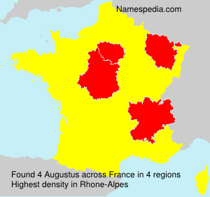 Surname Augustus in France