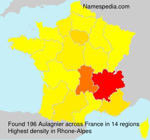 Familiennamen Aulagnier - France