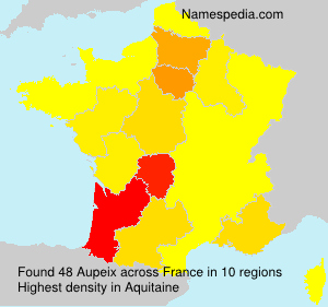 Surname Aupeix in France