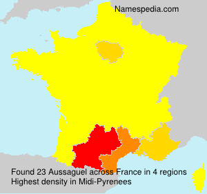 Surname Aussaguel in France
