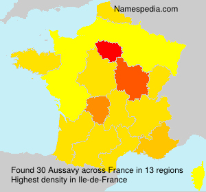 Surname Aussavy in France
