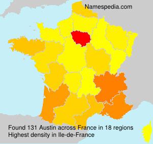 Familiennamen Austin - France