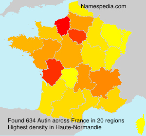 Surname Autin in France