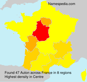 Familiennamen Auton - France