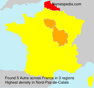 Surname Autre in France