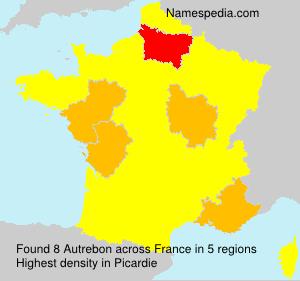 Surname Autrebon in France
