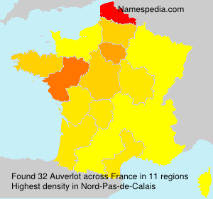 Surname Auverlot in France