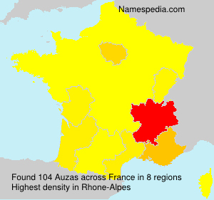 Surname Auzas in France