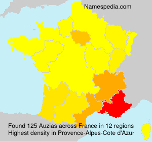 Surname Auzias in France