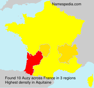 Surname Auzy in France