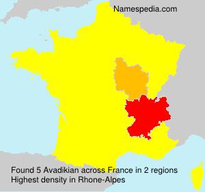 Familiennamen Avadikian - France