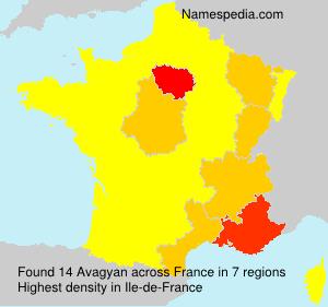Familiennamen Avagyan - France
