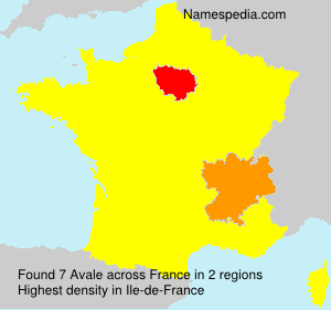 Surname Avale in France