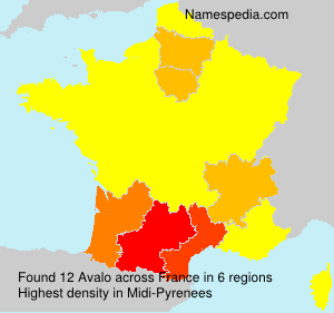 Surname Avalo in France
