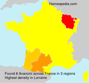 Familiennamen Avancini - France