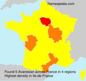 Familiennamen Avanesian - France
