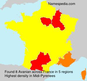 Familiennamen Avanian - France