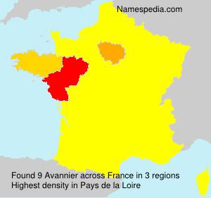 Familiennamen Avannier - France