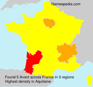 Familiennamen Avant - France