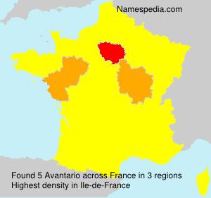 Familiennamen Avantario - France