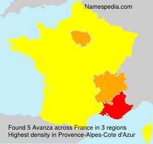 Surname Avanza in France