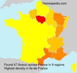 Familiennamen Avanzi - France