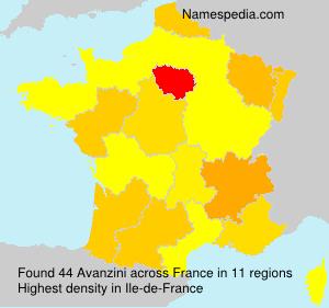 Familiennamen Avanzini - France