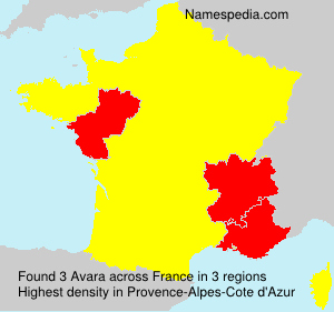 Familiennamen Avara - France