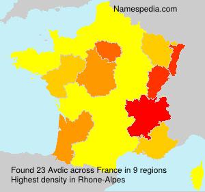 Surname Avdic in France