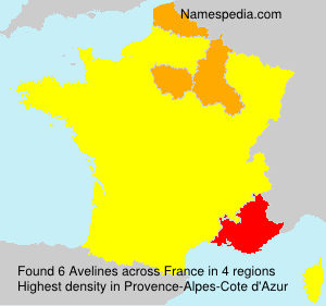 Surname Avelines in France