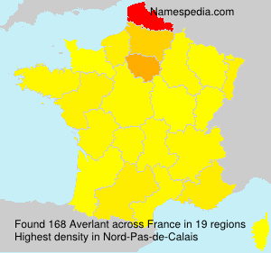Surname Averlant in France