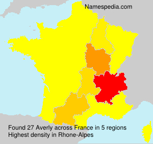 Surname Averly in France
