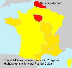 Surname Avron in France