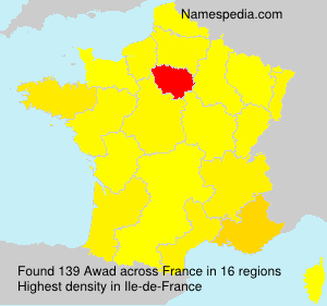 Surname Awad in France